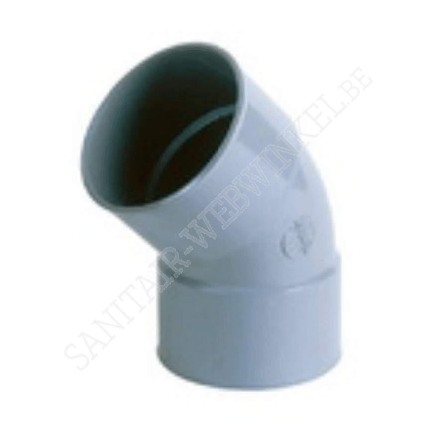 PVC bocht 45° mof - mof Ø125