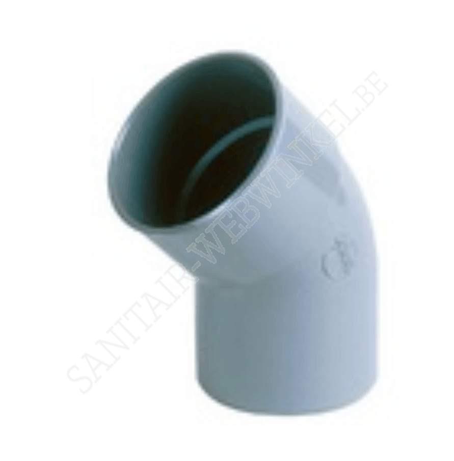 PVC bocht 45° mof - spie Ø40