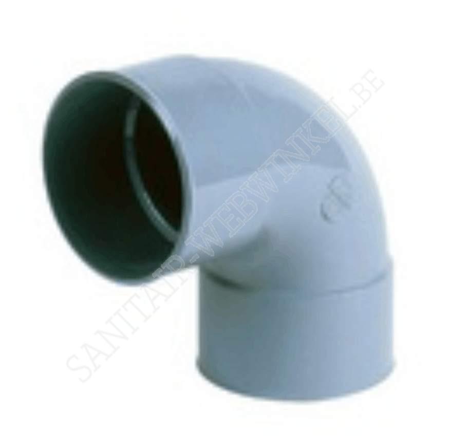 PVC bocht 90° mof - mof Ø80