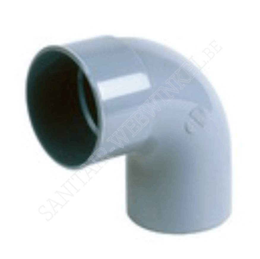 PVC bocht 90° mof - spie Ø80
