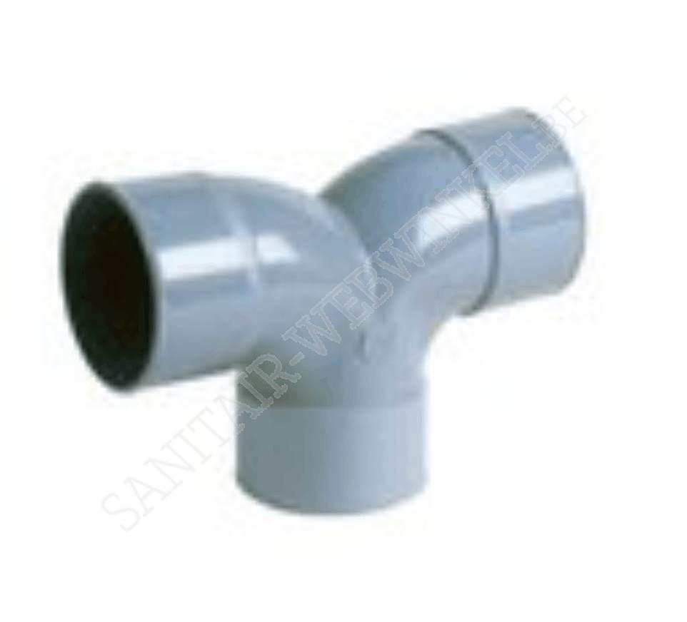 PVC dubbele bocht 2x90° mof - mof – mof Ø50