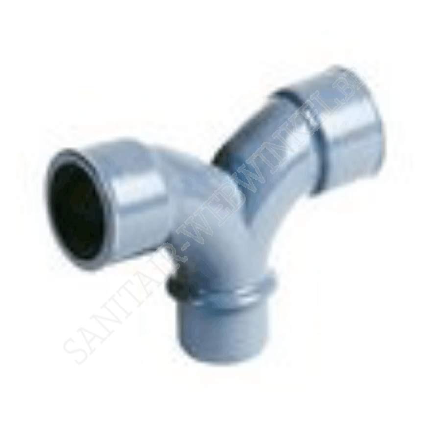 PVC dubbele bocht 2x90° mof – mof – spie Ø40