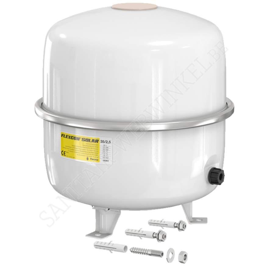 Flamco expantievat solar 35 liter 2.5 Bar