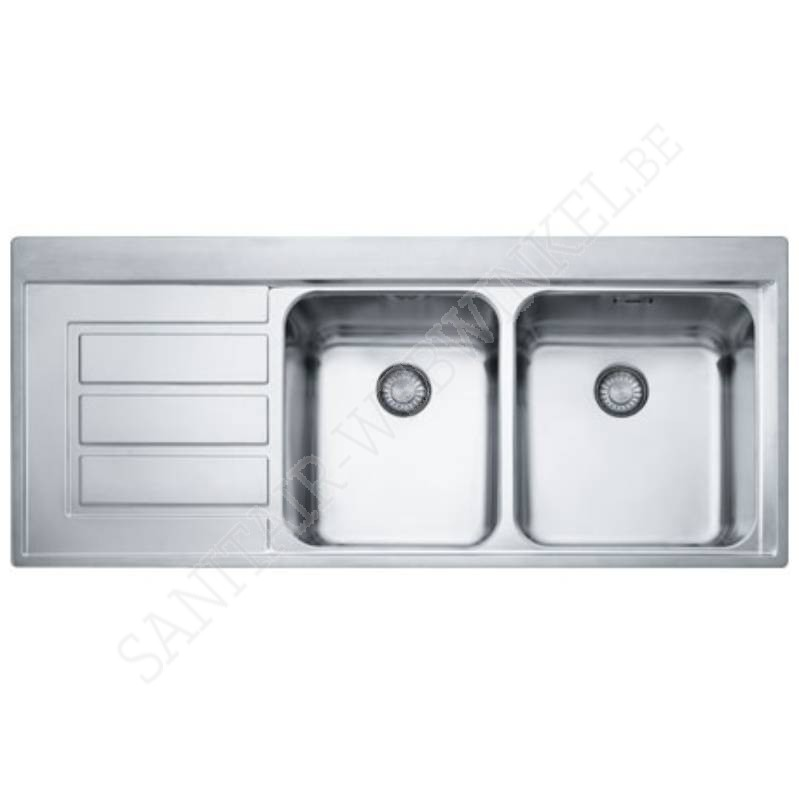 franke epos eox621l1 inbouw met dubbele spoelbak sanitair webwinkel. Black Bedroom Furniture Sets. Home Design Ideas