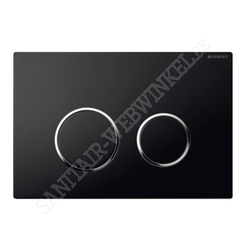 Geberit sigma 20 zwart /chroom glazend met 2 spoeltoetsen