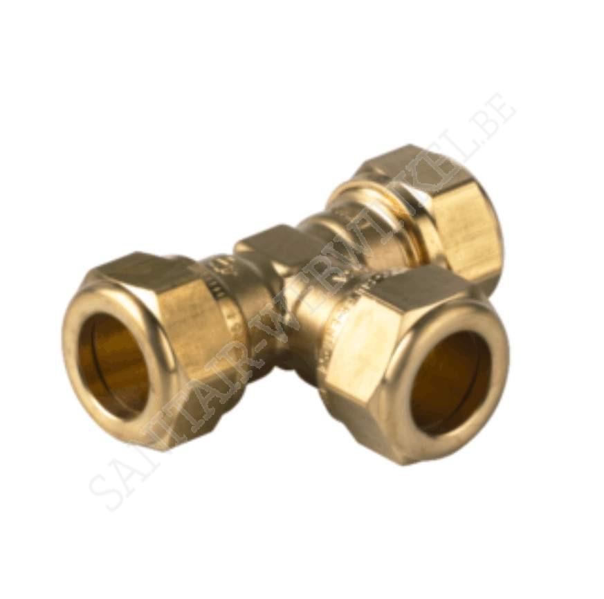 T-stuk knelkoppeling water Ø 18 mm | Sanitair-Webwinkel