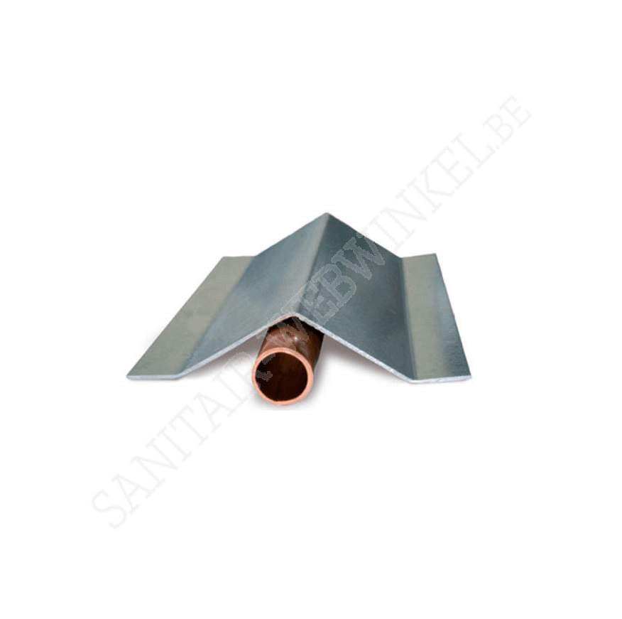 Beschermingsprofiel voor gasleiding Ø28 in vloer 2 meter