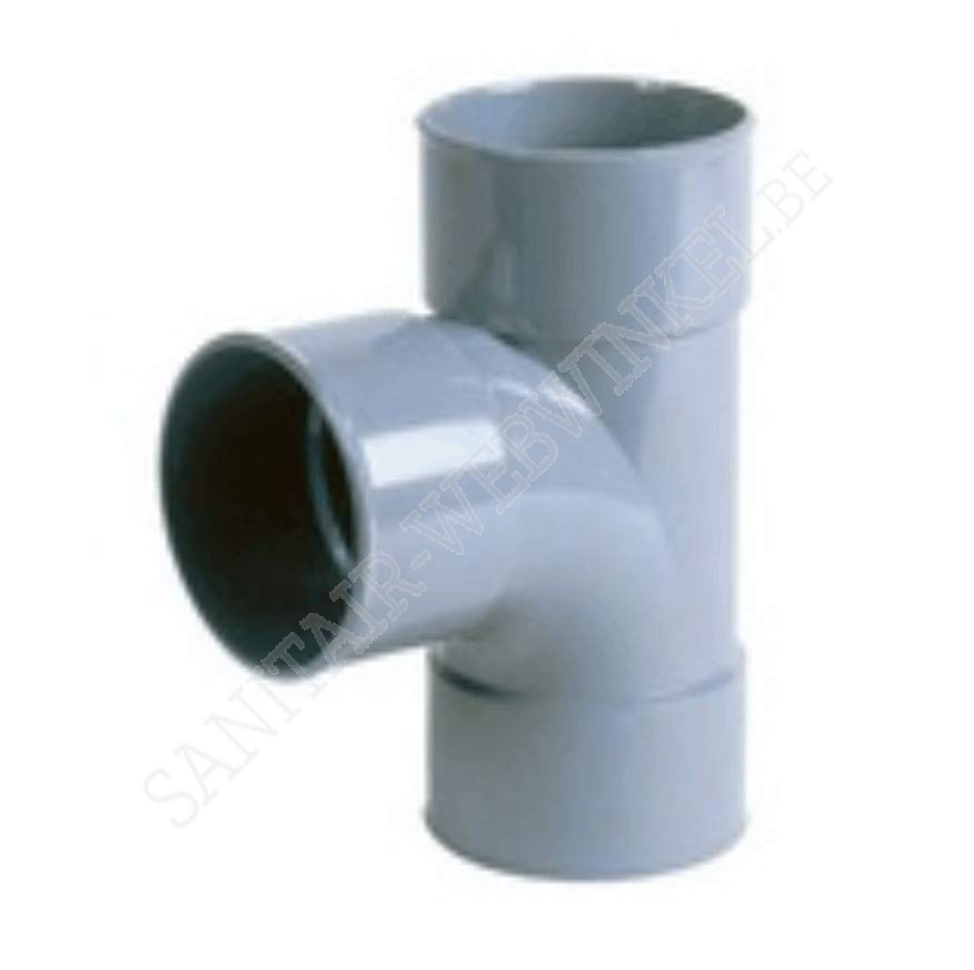 PVC T-stuk 90° mof - mof – mof Ø40