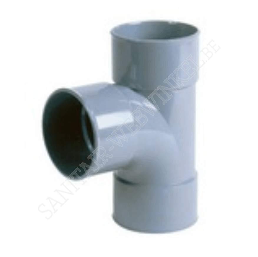 PVC T-stuk 90° mof - mof – mof Ø75